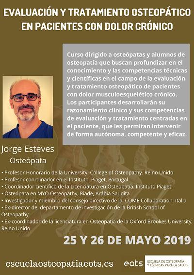 Curso de Evaluación y tratamiento osteopático en pacientes con dolor crónico
