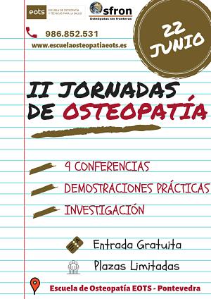 Conferencias de Osteopatía en Pontevedra
